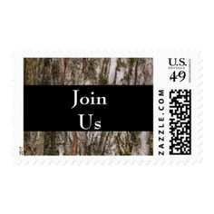 Birthday Party Rustic Rural Wood Tree Countryside Postage - rustic gifts ideas customize personalize