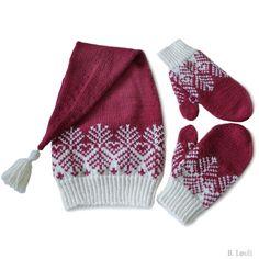 strikkeoppskrift nisselue og nissevotter
