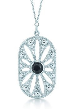 "Ziegfeld Collection daisy pendant. Inspired by the Tiffany jewels created exclusively for Baz Luhrmann's film ""The Great Gatsby."""