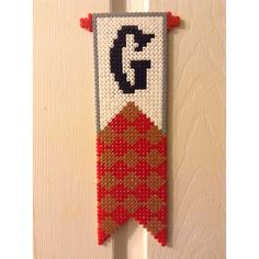 Gryffindor banner - Harry Potter hama beads by beckyxellen