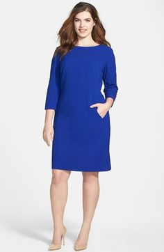 Tahari Seamed Sheath Dress (Plus Size) available at #Nordstrom