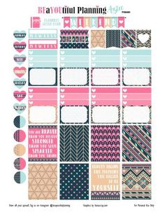 Hello Planner Girls Tonight I created a new printable using digital paper from a blog I found lianascrap.com! I thought the colors would go perfectly with the ELCP Vertical colors for MAY!! I inclu…