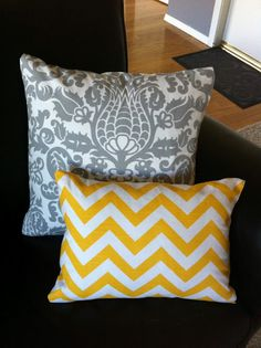 No-sew pillow with no folding. Uses hem tape or stitch-witchery then turn the pillow cover inside out.