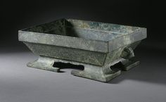 Rectangular Grain Container (Fu) with Interlaced Dragons. China, Early Eastern Zhou Dynasty, Spring and Autumn Period, 771-481 B.C.