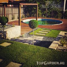 gardens Land Scape, Beautiful Gardens, Pergola, Sidewalk, Deck, Mansions, House Styles, Outdoor Decor, Design