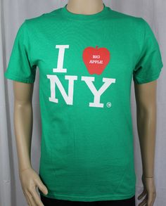 I Love NY Big Apple Small Green T-Shirt New York City #PortCompany #GraphicTee