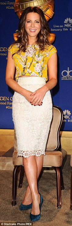 Emulate Kate's winning look in a Dolce & Gabbana skirt, £795