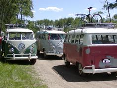 VW buses. Classic camping vehicle