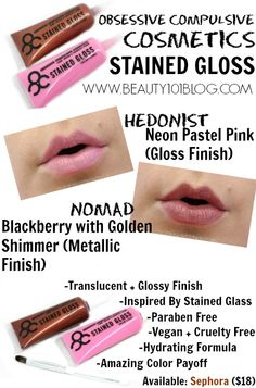 Looking for a perfect summer lip to wear on these warm days? OCC has you covered with their Stained Gloss! Check out this review of a few of their newest releases from the Dune Generation collection!