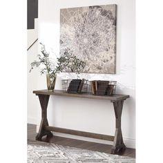 Valkner Sofa Table in Gray Glazed   Nebraska Furniture Mart