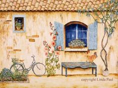 American Artist, Linda Paul. Tuscan Egg Tempera on Canvas. Order Online. Will Ship. Gallery-Gallery Consignment Available.