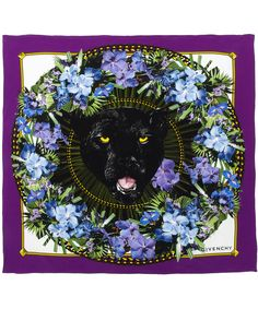 Purple Panther Garland Silk Scarf by Givenchy. Rowrrr.