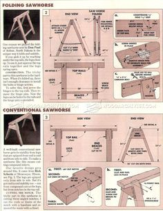 Sawhorses Plans - Workshop Solutions Plans, Tips and Tricks | WoodArchivist.com