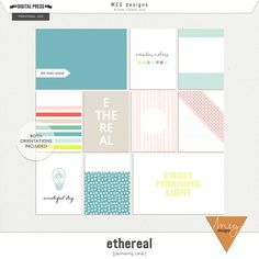 Ethereal | journaling cards