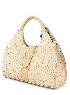 Ostrich Embossed Handbag