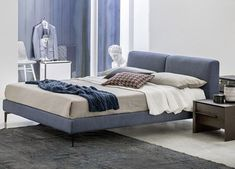 Low height Superking upholstered beds made in lots of fabrics & colours. Buy the latest Euroking beds for quick London, South East and UK wide delivery. Italian Bedroom Furniture, Luxury Italian Furniture, Living Room Furniture, Contemporary Decorative Pillows, Contemporary Furniture, Modern Contemporary, Contemporary Kitchen Tiles, Super King Mattress, Bed Frame And Headboard