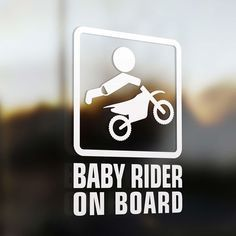 Motorcycle baby - Lil' motocross rider on board sign – Motorcycle baby Motocross Baby, Motocross Wedding, Motorcycle Baby, Motocross Riders, Baby Bike, Motocross Funny, Motocross Stickers, Baby Shower Niño, Baby Showers