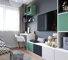 Unisex Kids Room Design 16 Ideas For 2019 Kids Room Design, Home Office Design, Kids Study Desk, Kids Bedroom, Bedroom Decor, Kids Rooms, Master Bedroom, Ikea Kids Room, Unisex Kids Room