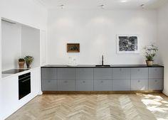 Køkken Grå, hvid & granit bo tikken