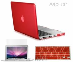 iBenzer - 3 in 1 Multi colors Soft-Touch Plastic Hard Case Cover & Keyboard Cover & screen protector for Multi Sizes Macbook (Macbook Pro 13'', Macbook Pro 13'' with retina display, Macbook Pro 15'', Macbook Air 13'', Macbook Air 11'') (Macbook Pro 13'', Red) iBenzer,http://www.amazon.com/dp/B00DADL6AM/ref=cm_sw_r_pi_dp_O2DDsb030PHH89ZR
