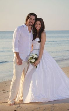 Groom's beach wedding attire idea