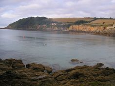 Falmouth Bay in Cornwall, England.