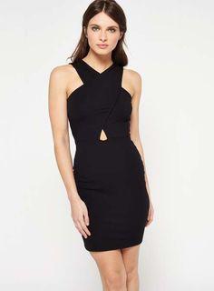 Miss Selfridge Cross front halter neck dress