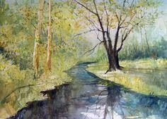 watercolor landscape - Hledat Googlem