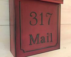 Hand painted treasures for your home. by SaratogaArtnCraft on Etsy Wooden Mailbox, Wall Mount Mailbox, Mounted Mailbox, Christmas Calendar, Post Box, Rustic Christmas, Wood Colors, House Painting, Montage