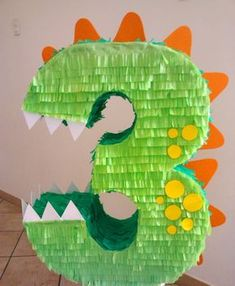 Dinosaur party for kids Birthday decoration Dinasour Birthday, Birthday Pinata, Dinosaur Birthday Party, 3rd Birthday Parties, Third Birthday, Dinasour Party, 3 Year Old Birthday Party Boy, Elmo Party, Dinosaur Cake