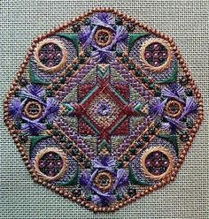 Old Country embroidered ornament from The Dodecagon Series designed by Jim Wurth