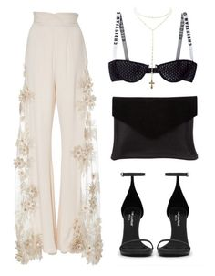 """""""Most beautifull pants I've ever laid my eyes on"""" by baludna ❤ liked on Polyvore featuring Lana Mueller, Charlotte Russe, Yves Saint Laurent and Graine"""