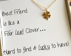 four leaf clover necklace best friend gift christmas gift for best friend shamrock - Best Friend Gifts For Christmas