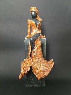 Paper Mache Sculpture, Sculpture Art, Fire Nails, Contemporary Sculpture, Statue, Clay Art, Ceramic Art, Garden Art, Art Dolls