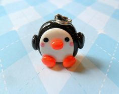 Kawaii Penguin Charm Polymer Clay. $5.00, via Etsy.