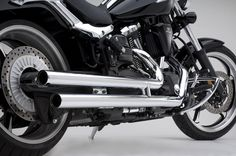 SPEEDSTAR LONG DRAG PIPES EXHAUST SYSTEM FOR YAMAHA RAIDER