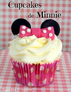 Cupcake Creativo: Cupcakes de Minnie (Vídeo-Tutorial)                                                                                                                                                                                 Más