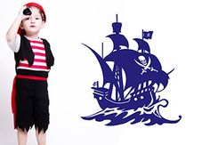 Pirate Ship Wall Sticker - Stunning Decoration for Boys