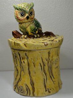 Vintage Owl Cookie Jar made in Japan by Enesco Bird Cookies, Biscuit Cookies, Cute Cookies, Antique Cookie Jars, Kinds Of Cookies, Vintage Cookies, Vintage Owl, Kitchen Dishes, Biscuits