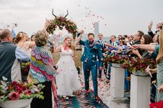 A bright and bold wedding filled with proudly South African touches like proteas, African print fabrics, strelizias, and the Joburg skyline! South African Weddings, Bridesmaid Dresses, Wedding Dresses, Wedding Moments, Christmas Traditions, Printing On Fabric, Traditional, Bride Maid Dresses, Bride Gowns