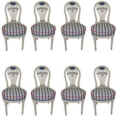 Parisian Hot Air Balloon Design Dining Chairs | From a unique collection of antique and modern dining room chairs at https://www.1stdibs.com/furniture/seating/dining-room-chairs/