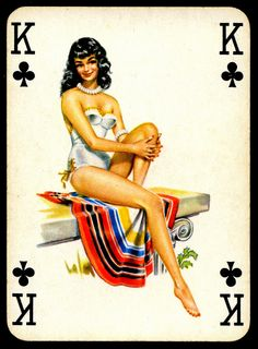 All sizes | Pin Up Playing Card - King of Clubs