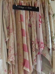 French Fabric Shop & Blog ~ this should take you to the English Link. If not there is a translation button. Find Cabbages and Roses and Kate Forman linens at Au Fil du Temps, haberdashery in south of France