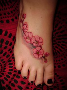 cherry blossoms ink