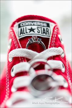 Wedding Rings, Creative Ring Shot, Converse All Star, Chuck Taylors, Wedding Sneakers