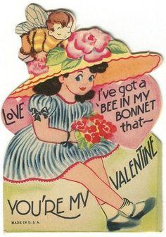 Vintage Valentines card