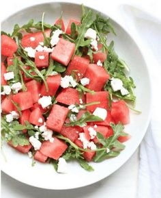 4 Watermelon Feta Salad 10 Reasons and Ways to Eat Watermelon. #recipe #healthy #betterlife #wellness