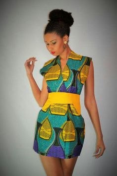 Malaika designs ~African Prints, African women dresses, African fashion styles, african clothing