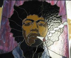 stained glass people | ... Hendrix by Wendy's Stained Glass | Glass people panels | Pintere