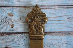 Vintage Brass Letter Opener Paper Cutter by CakeNumber9 on Etsy, $41.00
